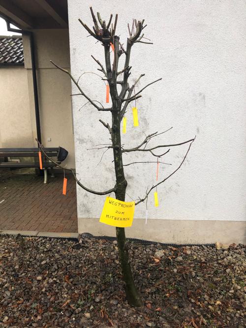 Gute Worte für den Weg Baum